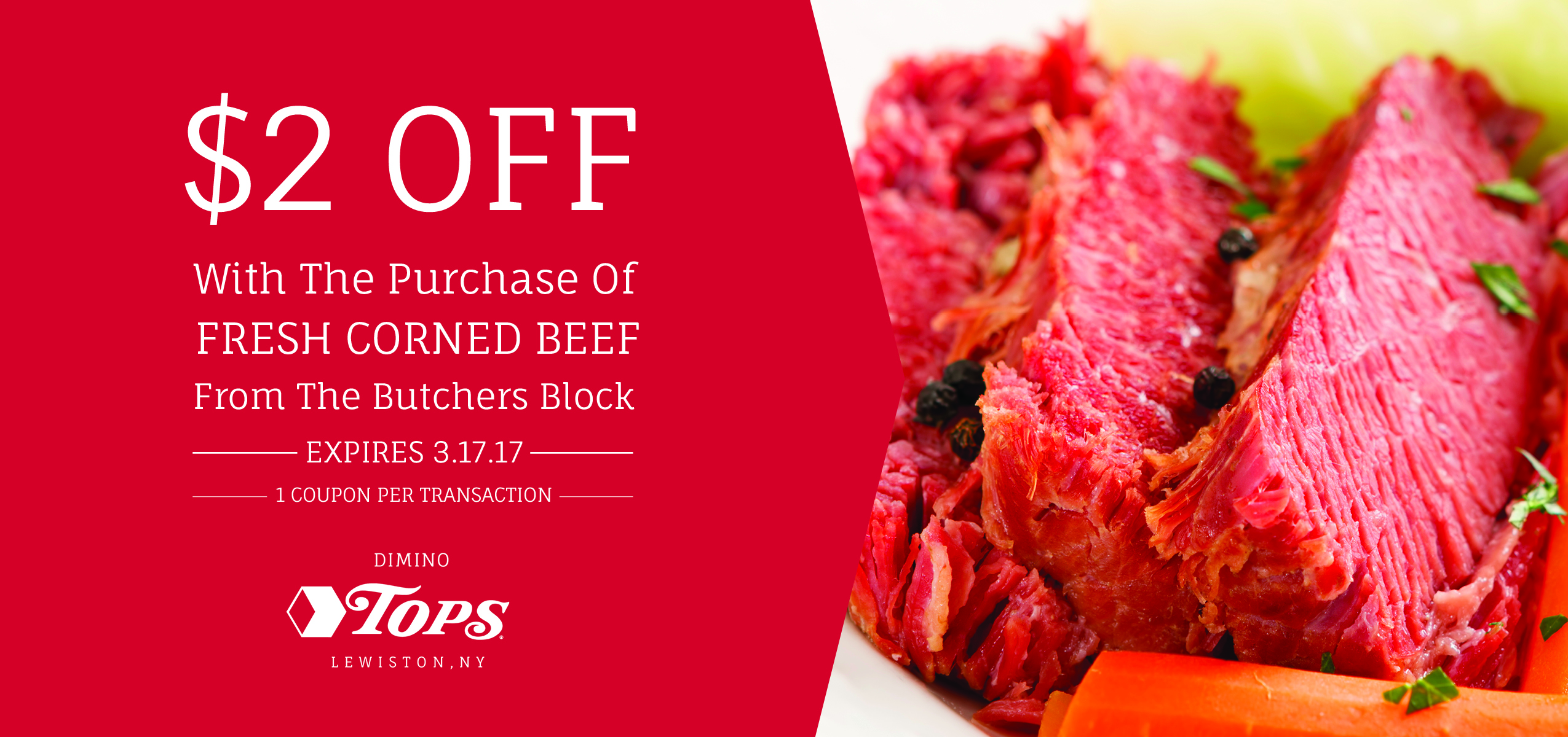 Tops Corned Beef Coupon